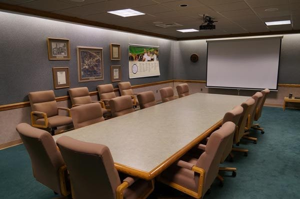 interior of the Fallerius Conference Room