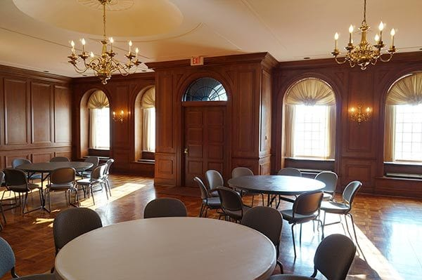 interior of the Kehoe cherry room