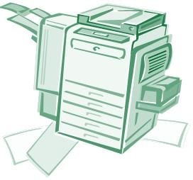 clip art of a copy machine