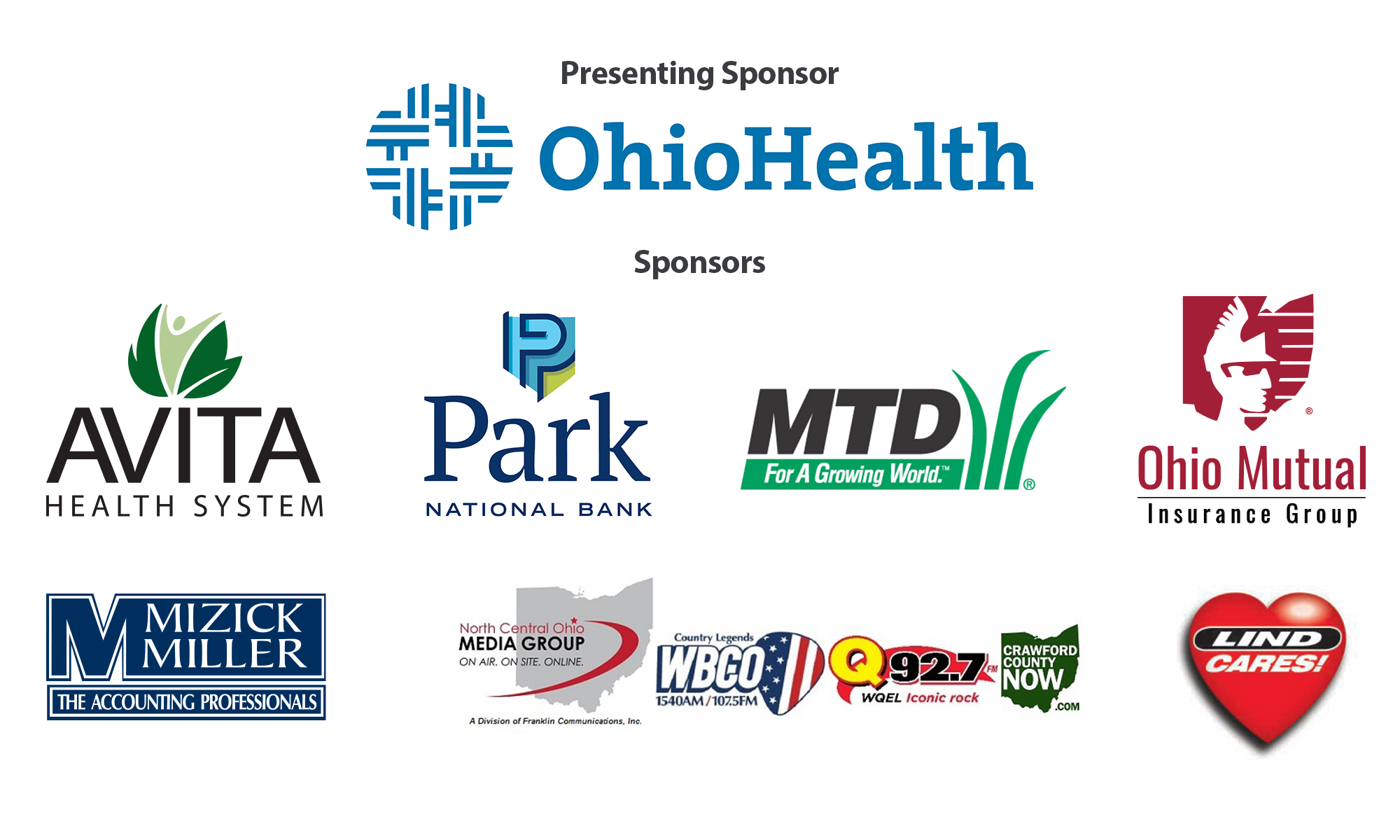 graphic with all sponsor logos. Ohio Health presenting sponsor